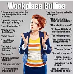 Discover and share Bully Boss Quotes. Explore our collection of motivational and famous quotes by authors you know and love. Hostile Work Environment, Environment Quotes, Workplace Bullying, Bully Boss, Adult Bullies, Workplace Quotes, Affirmations, Interview, Health And Wellness
