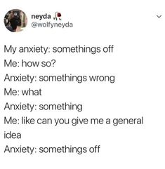 23 Hilarious Posts That Are Too Relatable for People With Anxiety Fact Quotes, Mood Quotes, True Quotes, Funny Quotes, Anxiety Humor, Quotes About Anxiety, Social Anxiety Quotes, Depression And Anxiety Quotes, Anxiety Disorder