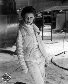 Carrie Fisher as Princess Leia in Star Wars: The Empire Strikes Back
