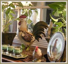 This post is all about fabulous poulets, their posh coops, and how they have been used to create a design trend. French Country Interiors, French Country Cottage, French Country Style, Tuscan Decorating, French Country Decorating, Decorating Ideas, Decorating Kitchen, Decor Ideas, Kitchen Decor