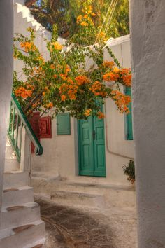Mykonos alleyway-Greece