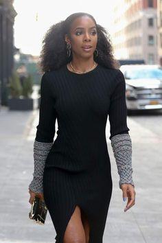 Just Enjoy — thegodivagoddesskelendria: Kelly Rowland - NYFW Look Fashion, Autumn Fashion, Girl Fashion, Sienna Miller, Look Street Style, Street Styles, Kelly Rowland Style, Kelly Rowland Hair, Chic Outfits