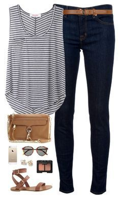 """ootd"" by classically-preppy ❤️ liked on Polyvore featuring J Brand, Dorothy Perkins, Organic by John Patrick, J.Crew, Rebecca Minkoff, Kate Spade, NARS Cosmetics and Yves Saint Laurent"