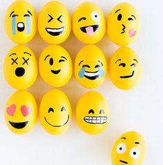 Emoji hard boiled eggs