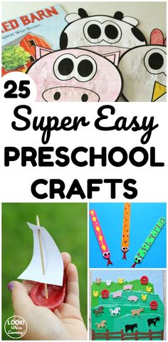 Make some of these super easy preschool crafts with little ones this summer! They only take ten minutes to complete!