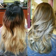 COLOR CORRECTION: A Mess to GORGEOUS Blonde Ash Sombre - Career - Modern Salon More