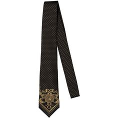 Versace Men 7cm Medusa & Polka Dot Silk Jacquard Tie (230 CAD) ❤ liked on Polyvore featuring men's fashion, men's accessories, men's neckwear, ties, mens silk ties, mens leopard print tie, mens polka dot ties, mens ties and mens patterned ties