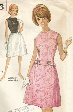 7358fc3c02c Items similar to Vintage 60s Simplicity 5153 Misses Two Piece Dress with  Sleeveless Top and Dirndl Skirt Sewing Pattern Size 14 Bust 34 on Etsy