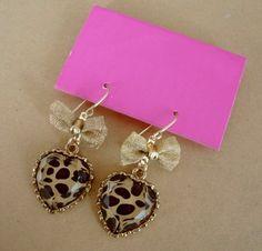 leopard earrings.. ♥