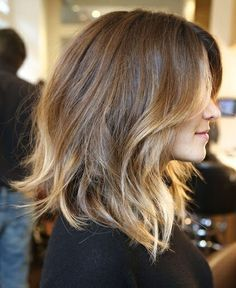 Cute haircut, light and layered. Plus it works with my natural texture!