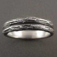 Twig Stack Sterling Silver Wedding Ring - Beth Millner Jewelry - 1