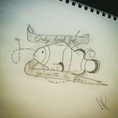 Fish tattoo Artist : Annabelle Petit  Instagram : annaberu11