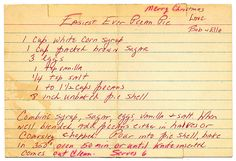 Pie - Easiest Ever Pecan Pie ~~ I haven't made this yet but YUMMY~ reads easy and sounds good ~ not my family recipe. Retro Recipes, Old Recipes, Vintage Recipes, Baking Recipes, Vintage Menu, Vintage Ads, Pie Dessert, Dessert Recipes, Potluck Recipes