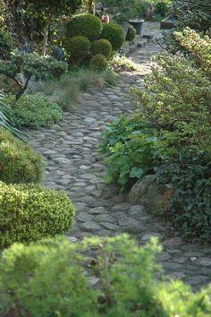 Winding rock path