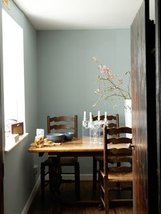 Paint color + Pink Blossoms = Perfection. Rosie Brown's vacation home