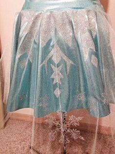 Elsa's Frozen Running Skirt by RunPrincessRun on Etsy