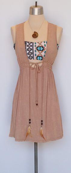 Mauve tunic with hand made bandeau/bathing suit. www.shopmudra.com
