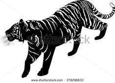 """Résultat de recherche d'images pour """"tiger silhouette"""""""