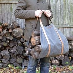 Stoke the flames. 10 Easy Pieces: Firewood Log Carriers | Gardenista