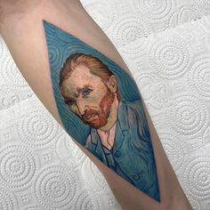 Resultado de imagem para van gogh tattoo