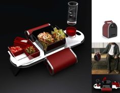 Lunch Box that transforms into a personal dining tray
