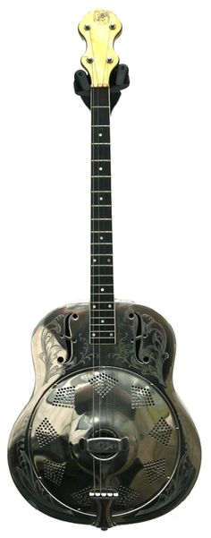 1937 NATIONAL - Style #3 German silver guitar-shaped single cone tenor guitar http://www.tenorguitar.com/pyott.html