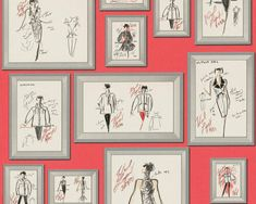 Karl Lagerfeld Wallpaper, Wallpaper Ireland, Wallpaper Dublin Karl Lagerfeld, Quirky Wallpaper, Bedroom Wallpaper, Chiffon, Wallpaper Paste, Room Colors, Decoration, Gallery Wall, Creations