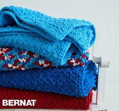 Crochet Patterns Using Bernat Home Bundle : Bernat Pebble Stitch Throw - Free Crochet Pattern - (yarnspirations)