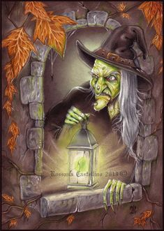 Halloween🎃 Night by r-castellino ~ A very scary witch, indeed Halloween Pictures, Halloween Cards, Spooky Halloween, Holidays Halloween, Vintage Halloween, Happy Halloween, Halloween Decorations, Samhain, Scary Witch