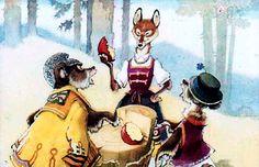 """Два жадных медвежонка"" венгерская народная сказка Tales For Children, Painting, Art, Art Background, Painting Art, Kunst, Paintings, Performing Arts, Painted Canvas"