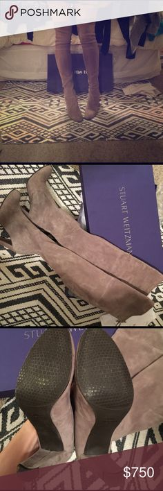 Stuart weiztman over the knee Stuart Weitzman highland topo suede boots size 7.5 literally worn once. Love them but I'm not sure they're my style. Comes with box & dust bags. Amazing boots. Paid $798 + tax Stuart Weitzman Shoes Over the Knee Boots