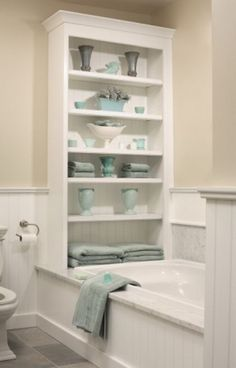 50 Useful Bathroom Storage Ideas Check Out 50 Useful Bathroom Storage Ideas. Not with standing a small bathroom you have or not, you need some creative storage ideas that suit your interior and the amount of space you own. Laundry In Bathroom, Bathroom Renos, Master Bathroom, Bathroom Ideas, Cream Bathroom, Bathroom Makeovers, Bath Ideas, Bad Inspiration, Bathroom Inspiration