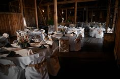 Neutral but never boring. Burlap compliments many themes and continues to be a favorite of brides at the Hayloft. Photo Credit: Glessner Photography