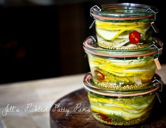 A simple tasty recipe for quick Pickled Summer Squash, delicious on sandwiches and burgers and as a side to any meal!