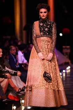Very Different-- Lakme Fashion Week Sabysachi soft pink and gold lehenga