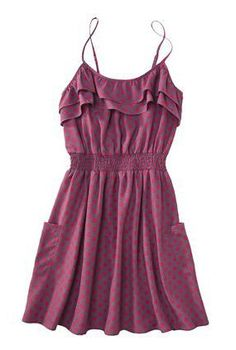 """Cute and inexpensive """"Pink Dot"""" summer dress. (photo doesn't do it justice) http://www.target.com/p/Xhilaration-Juniors-Smocked-Dress-Assorted-Colors/-/A-13830214#?lnk=sc_qi_detailimage"""