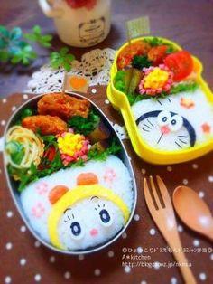 久しぶりのお弁当 昨日の夜に食べました ひょっこり♪ドラえもん(*^^*)モバレピを参考にさせてもらいまし...|初心者でも簡単無料!ブログを作るなら CROOZ blog Kawaii Bento, Cute Bento, Japanese Lunch, Japanese Food, Toddler Meals, Kids Meals, Bento Recipes, Bento Box Lunch, My Best Recipe
