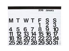 Stendig Calendar by Massimo Vignelli