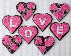 Heart Cookies | Heart Lace Cookies How-To - Projects Cakegirls