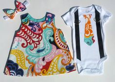 Brother Sister Boy Girl Twin Matching Set - Kelsey K Kreation Twin Outfits, Matching Outfits, Kids Outfits, Boy Girl Twins, My Baby Girl, Twin Mom, Twin Babies, Expecting Twins, Cute Twins