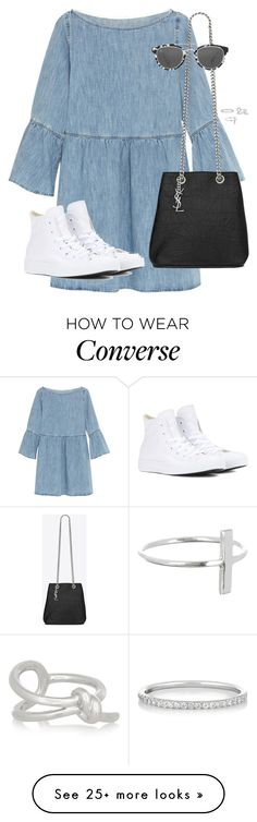 """Untitled #11385"" by alexsrogers on Polyvore featuring MM6 Maison Margiela, Converse, Yves Saint Laurent, 32.4, Ileana Makri and Balenciaga"