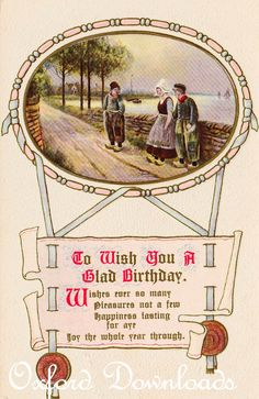 Happy Birthday Card Dutch Print Digital by OxfordDownloads on Etsy https://www.etsy.com/uk/listing/285817139/happy-birthday-card-dutch-print-digital?utm_source=Pinterest&utm_medium=PageTools&utm_campaign=Share