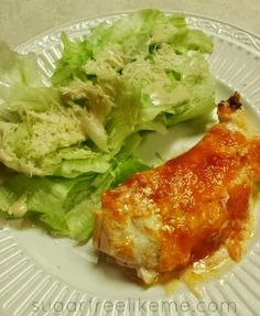 Sugar Free Like Me: Low Carb Creamy Cheesy Chicken - this works perfectly as an S meal with a side salad!