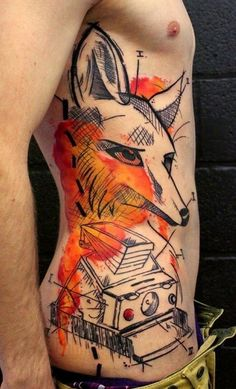 great tattoo! #fox #polaroid