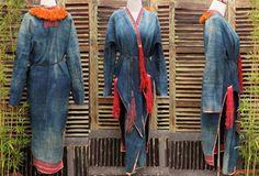 Vintage Dzao Long Jacket Hill Tribe Hmong Indigo by LittleVietnam