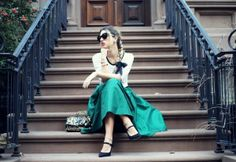 by Glamgerous // T-shirt + fancy skirt.