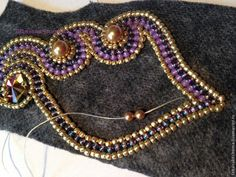 Вышиваем бисером брошь в осенних тонах - Ярмарка Мастеров - ручная работа, handmade