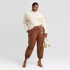 Women's High-Rise Ankle Length Jogger Pants - A New Day™ Plus Size Fall Fashion, Autumn Fashion, Jogger Pants, Joggers, Plus Size Coats, Plus Size Designers, Ankle Length Pants, Plus Size Dresses, Fitness Fashion