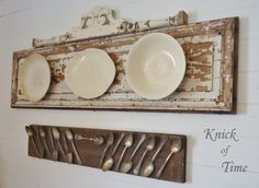 Knick of Time: Ironstone & Tarnished Spoons Displays-Wow - love the creative ideas this person has!