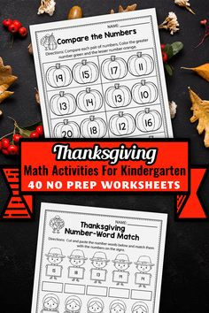 These kindergarten math worksheets for kindergarten were a great addition in my classroom. The set includes kindergarten math worksheets, activities, addition and subtraction activities, counting printables, color by number, ten frames and more. The kindergarten printables are so fun and include so many cute graphics, just like a game. The Thanksgiving printables activities can be used during homeschool, or in the classroom for kindergarten and first grade students. #Thanksgivingworksheets Subtraction Activities, Free Kindergarten Worksheets, Free Worksheets, Learning Activities, Thanksgiving Activities For Kindergarten, Thanksgiving Worksheets, Thanksgiving Math, Math Literacy, First Grade Teachers
